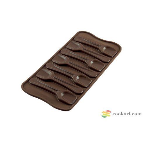 Silikomart Csokoládé kanál forma, 7db-os