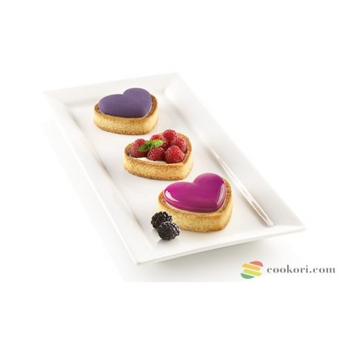 """Silikomart Szív alakú mini tarte készlet """"Petit amour"""""""