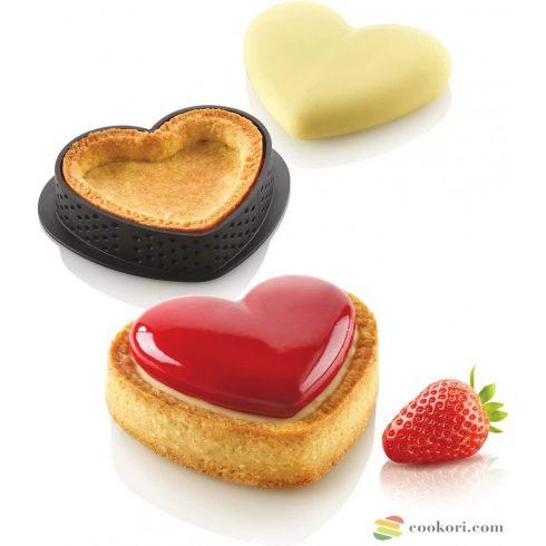 Silikomart Kit mini tarte petit amour silicone