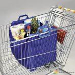 Bevásárlókosárba akasztható szatyor, kék