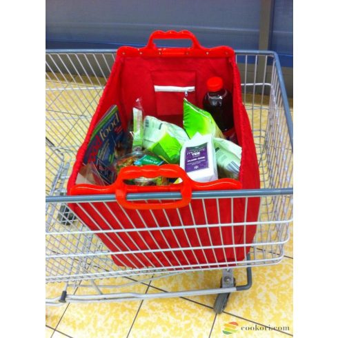 Baggy Bag to hang on shopping trolley red