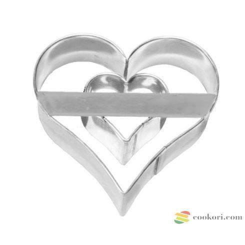 Birkmann Szívben szív kiszúró, 6cm