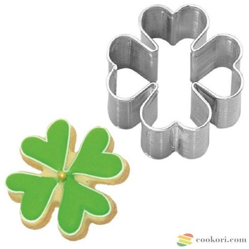 Four-leaved clover tin plate
