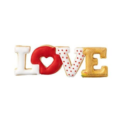 "Birkmann Cookie cutter "" Love"" lettering 11cm"