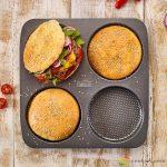 Birkmann Hamburger zsemle sütőforma, 4db-os