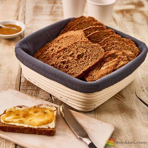 Cover for dough rising basket square, cotton