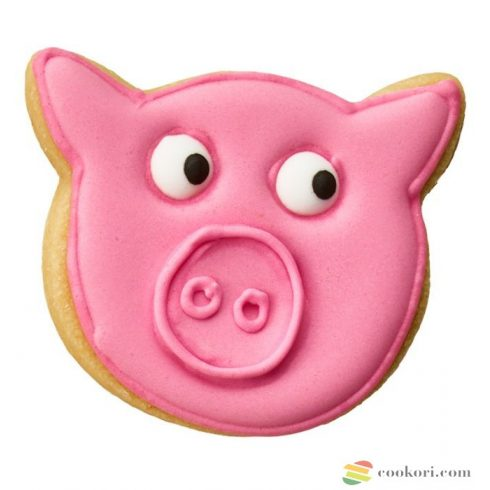 Birkmann Cookie cutter pig head 6cm
