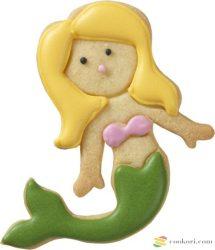 Birkmann Hableány kiszúróforma, úszó, 9cm