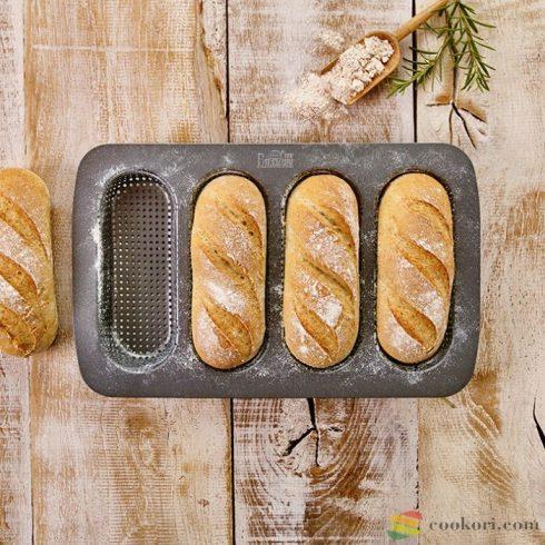 Birkmann Mini bagett sütőforma, 4db-os