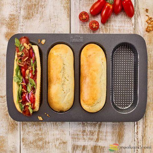 Birkmann Hot-dog kifli sütőforma, 4db-os