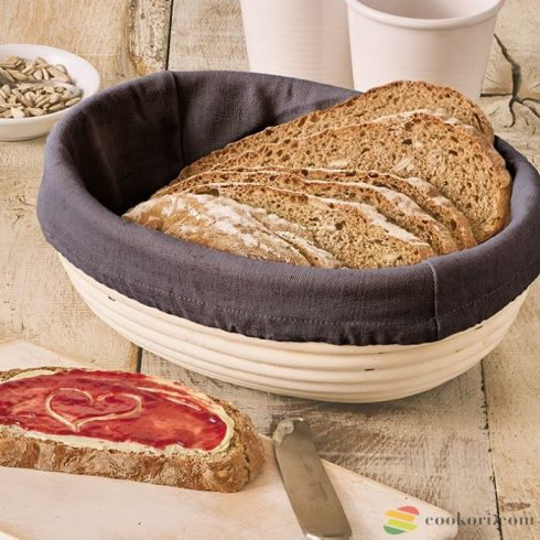 Cover for dough rising basket oval, cotton