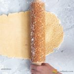 Valek Flowers and hearts rolling pin