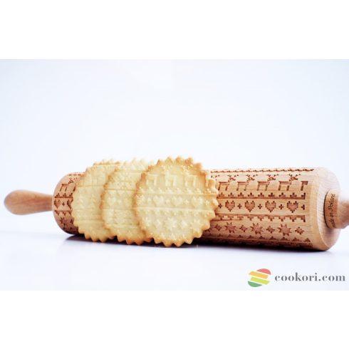 Valek Christmas jumper knitted pattern rolling pin