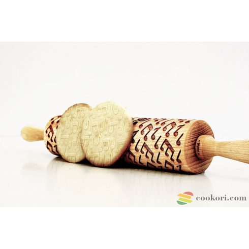 Valek Musical notes rolling pin