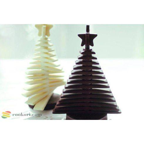Silikomart Csokoládé fenyő forma 3D + 2 váz