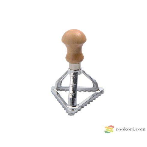 Eppicotispai Aluminium triangular ravioli stamp 76mm