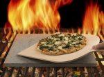 Etna Láva sütőkő, pizzakő + lapát, 38x30x1,5cm