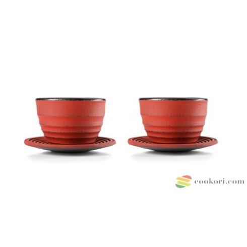 """Ibili Öntöttvas teáscsésze tányérral """"Ceylan"""", 2db"""