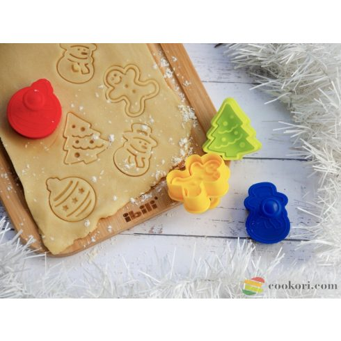 Ibili Cookie cutters with ejector christmas