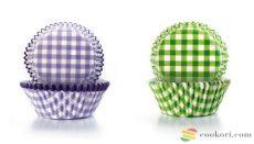Ibili Muffin kapszli kockás, 100db