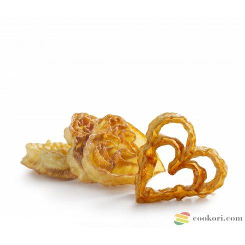 Ibili, szív alakú virágfánk forma, magas