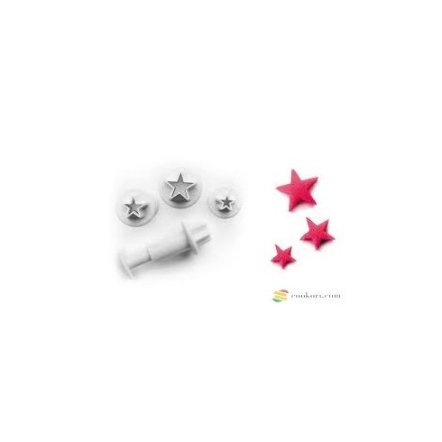 Ibili Set of 3 cutters with ejector star