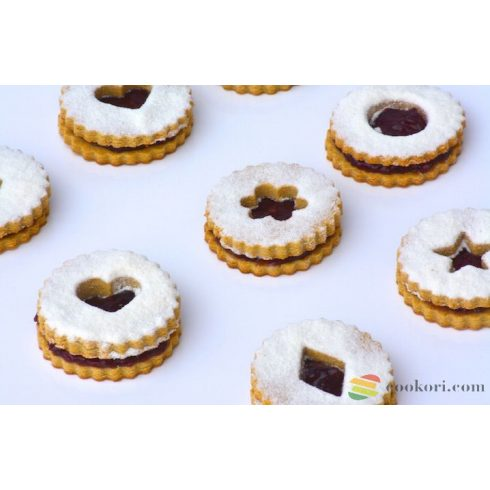 Ibili Set linzer cookie cutters classic