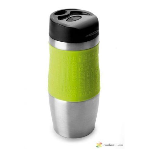 Ibili Duplafalú vákuum termosz Luxe, zöld 400ml