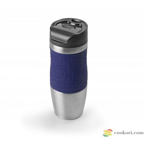 Ibili Duplafalú vákuum termosz Luxe, kék 400ml