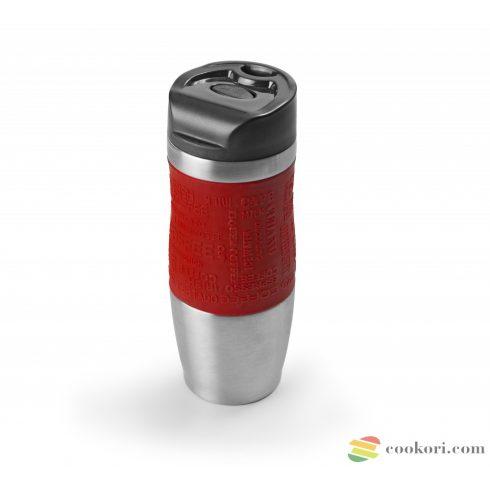 Duplafalú vákuum termosz Luxe, 400ml piros