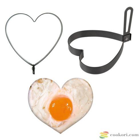 Heart egg mould mokka