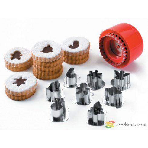Ibili Linzer kiszúró készlet, karácsony 8db-os
