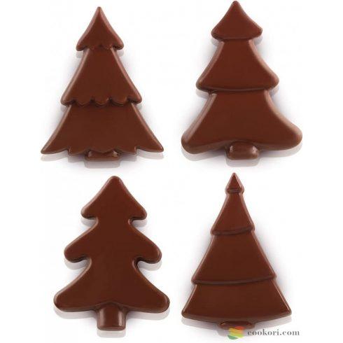Silikomart Csokoládé fenyő forma, 4db-os