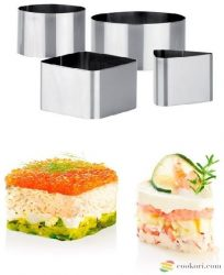 Tescoma Chef Ételformázó gyűrű készlet, 4db-os