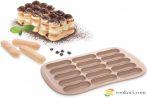 Tescoma babapiskóta és eklerfánk sütőforma, 15db-os, recepttel