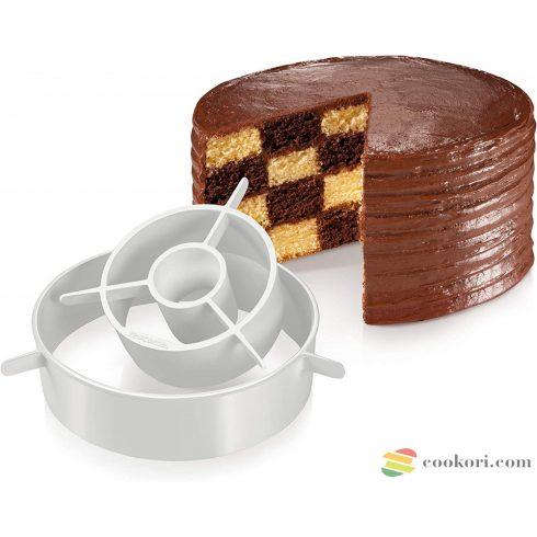 Tescoma Szivárvány és sakk torta forma